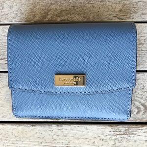 🎀 Kate Spade Laurel Way Petty Tile Blue Wallet 🎀